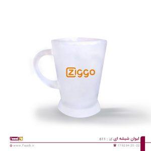 01 - لیوان شیشه ای تبلیغاتی کد 611